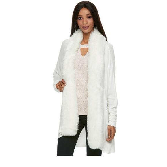 8cfaa5094d3 NWT Faux Fur Cardigan - PL. NWT. Jennifer Lopez